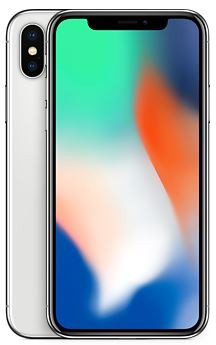 Apple iPhone X 256GB plata