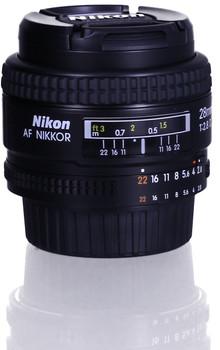 Nikon AF NIKKOR 28 mm F2.8 D 52 mm filter (geschikt voor Nikon F) zwart