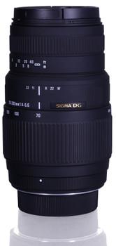 Sigma 70-300 mm F4.0-5.6 DG Macro 58 mm Obiettivo (compatible con Nikon F) nero
