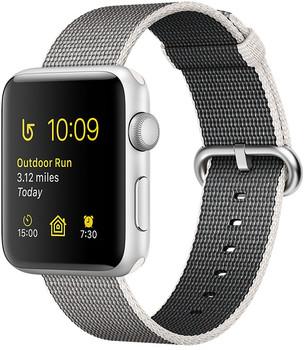 Apple Watch Series 2 42mm cassa in alluminio argento con cinturino in nylon intrecciato grigio [Wifi]