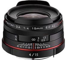 Pentax HD DA 15 mm F4.0 AL ED 49 mm Obiettivo (compatible con Pentax K) nero [Edizione limitata]