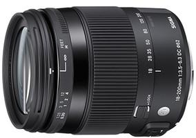 Sigma C 18-200 mm F3.5-6.3 DC HSM OS Macro 62 mm filter (filter Canon EF) zwart