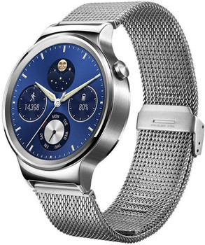 Huawei Watch Classic 18 mm zilver met stalen bandje zilver [wifi]