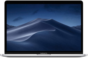 "Apple MacBook Pro met touch bar en touch ID 13.3"" (True Tone retina-display) 2.4 GHz Intel Core i5 8 GB RAM 512 GB SSD [Mid 2019, QWERTY-toetsenbord] zilver"