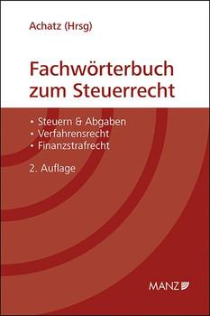 Fachwörterbuch zum Steuerrecht [Gebundene Ausgabe]