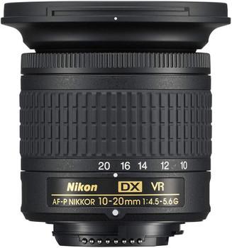 Nikon AF-P DX 10-20 mm F4e5-5.6 G VR 72 mm (adapté à Nikon F) noir