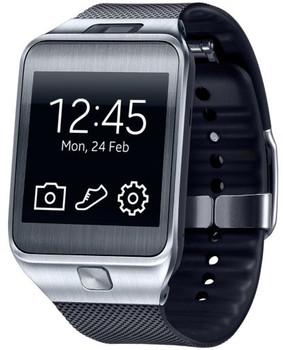 Samsung Gear 2 smartwatch 41,4mm plata con correa de goma negra