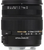 Sigma 17-70 mm F2.8-4.0 HSM OS Macro 72 mm filter (geschikt voor Sony A-mount) zwart
