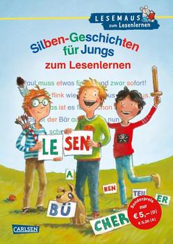 LESEMAUS zum Lesenlernen Sammelbände: Silben-Geschichten für Jungs zum Lesenlernen - Ursel Scheffler  [Gebundene Ausgabe]