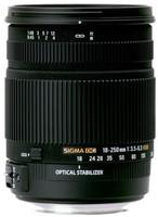 Sigma 18-250 mm F3.5-6.3 DC HSM OS 72 mm filter (geschikt voor Pentax K) zwart