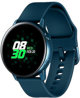 Samsung Galaxy Watch Active 40 mm blauw met sportarmband groen [wifi]