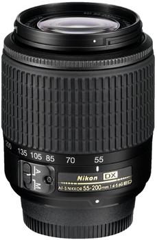 Nikon AF-S DX NIKKOR 55-200 mm F4.0-5.6 ED G 52 mm filter (geschikt voor Nikon F) zwart
