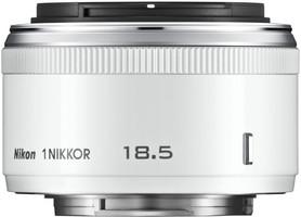 Nikon 1 NIKKOR 18,5 mm F1.8 40,5 mm Objectif (adapté à Nikon 1) blanc