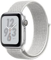 Apple Watch Nike+ Series 4 40 mm Boîtier en aluminium argent avec Boucle Sport Nike Blanc polaire [Wifi]