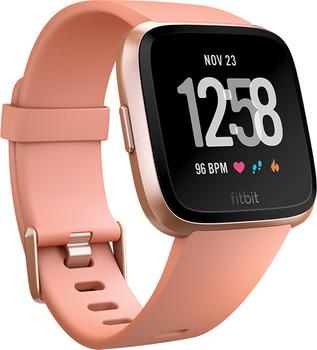 Fitbit Versa 34mm aluminium oro rosa con correa de silicona melocotón [Wifi]