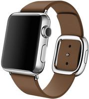 Apple Watch 38 mm en argent avec Bracelet Boucle Moderne Small marron [Wi-Fi]