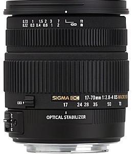 Sigma 17-70 mm F2.8-4.0 HSM OS Macro 72 mm Obiettivo (compatible con Sony A-mount) nero