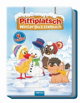 """Winterpuzzlebuch """"Pittiplatsch"""". 4 Puzzle mit Farbvorlage [Gebundene Ausgabe]"""