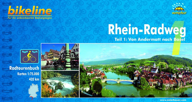 Bikeline Radtourenbuch, Rhein-Radweg Teil 1: Von Andermatt nach Basel