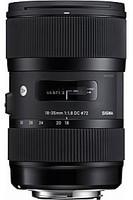 Sigma A 18-35 mm F1.8 DC HSM 72 mm Objetivo (Montura Nikon F) negro
