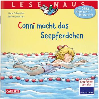 LESEMAUS 6: Conni macht das Seepferdchen (Neuausgabe) - Liane Schneider  [Taschenbuch]