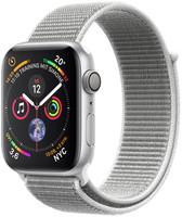 Apple Watch Series 4 44 mm aluminium zilver met geweven sportbandje [wifi] grijs