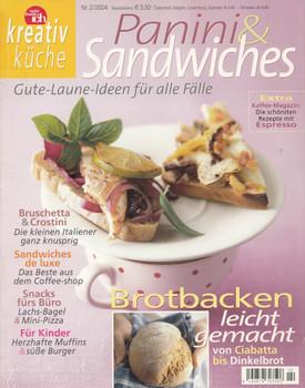 Kreativ Küche 02/2004: Panini & Sandwiches - Gute Laune Ideen für alle Fälle [Broschiert]