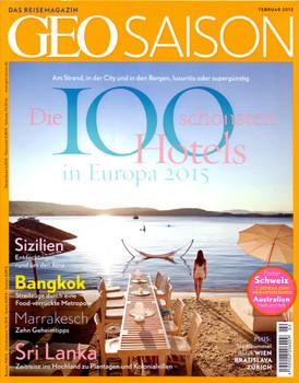 GEO Saison 02/2015: Die 100 schönsten Hotels in Europa 2015 [Broschiert]