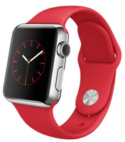 Apple Watch 38mm argento con cinturino Sport rosso [Wifi, RED Special Edition]