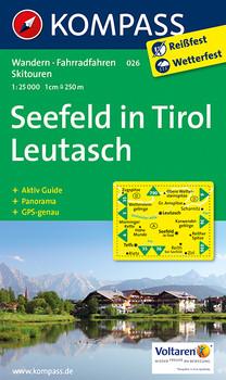 Kompass Karten, Seefeld in Tirol, Leutasch: Wandern / Rad. Mit Panorama