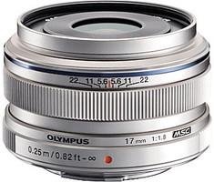 Olympus 17 mm F1.8 46 mm Objectif (adapté à Micro Four Thirds) argent