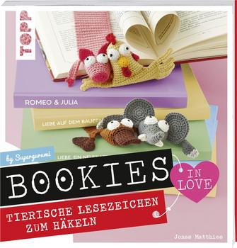 Bookies in Love. Tierische Lesezeichen zum Häkeln - Jonas Matthies  [Gebundene Ausgabe]