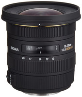 Sigma 10-20 mm F3.5 DC EX HSM 82 mm Obiettivo (compatible con Sony A-mount) nero