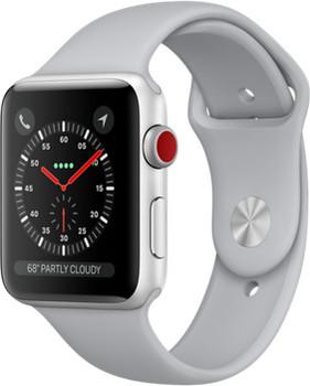 Apple Watch Series 3 42 mm aluminium zilver met sportarmband grijs [wifi + cellular]