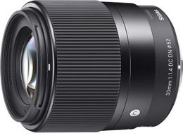 Sigma C 30 mm F1.4 DC DN 52 mm Objectif (adapté à Micro Four Thirds) noir