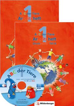 ABC der Tiere 1 – Arbeitsheft Druckschrift, Teil A und B - Klaus Kuhn [Broschiert]