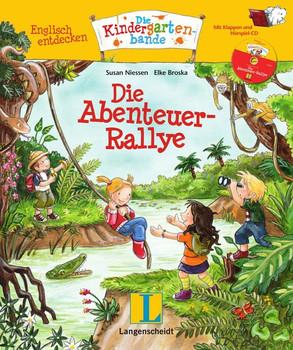 Die Abenteuer-Rallye - Buch mit Hörspiel-CD. Englisch entdecken - Die Kindergartenbande , Englisch - Susan Niessen  [Gebundene Ausgabe]