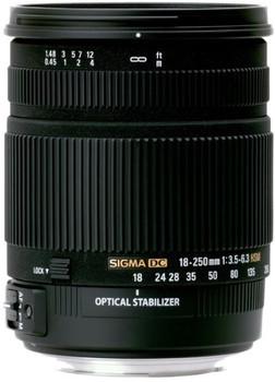 Sigma 18-250 mm F3.5-6.3 DC HSM OS 72 mm Objectif (adapté à Canon EF) noir