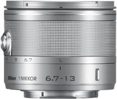Nikon 1 NIKKOR 6,7-13 mm F3.5-5.6 VR 52 mm filter (geschikt voor Nikon 1) zilver