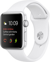 Apple Watch Series 2 42mm Caja de aluminio en plata con correa deportiva blanca [Wifi]