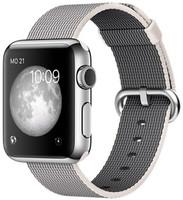 Apple Watch 38mm argento con cinturino in nylon grigio [Wifi]