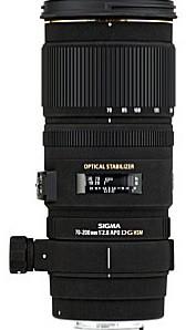 Sigma 70-200 mm F2.8 DG EX HSM 77 mm filter (geschikt voor Canon EF) zwart