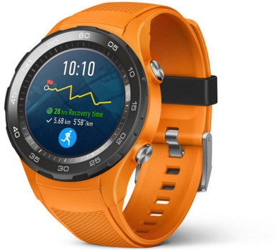 Huawei Watch 2 45 mm met zwarte sportband [wifi + 4G] oranje