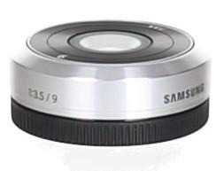 Samsung NX-M 9 mm F3.5 ED (adapté à Samsung NX-M) argent