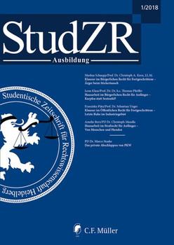Studentische Zeitschrift für Rechtswissenschaft Ausbildung. Ausgabe 1/2018 [Taschenbuch]
