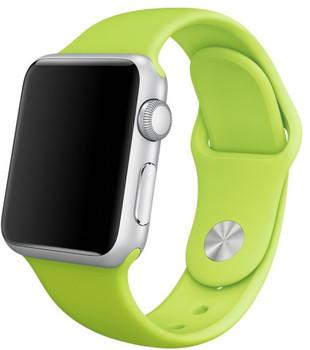 Apple Watch Sport 38mm argento con cinturino Sport verde [Wifi]