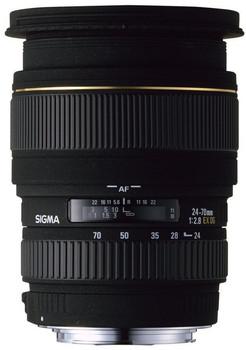 Sigma 24-70 mm F2.8 ASPH. DG EX Macro 82 mm Obiettivo (compatible con Canon EF) nero
