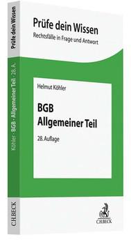 BGB Allgemeiner Teil - Helmut Köhler  [Taschenbuch]