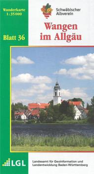 Wangen im Allgäu: Wanderkarte 1:35.000 (Karte des Schwäbischen Albvereins, Band 36)