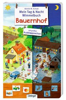 Mein Tag & Nacht Wimmelbuch Bauernhof - Kerstin M. Schuld